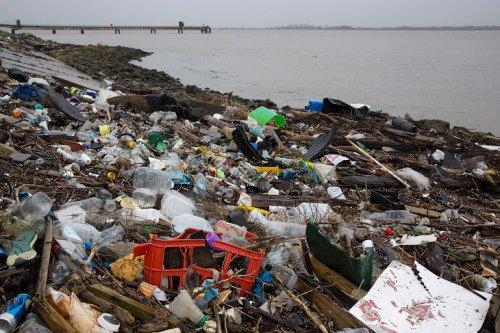 Горы пластика на берегу Темзы ! - «Фото»