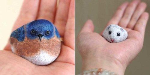 В руках этой японской художницы камни оживают ! - «Фото»