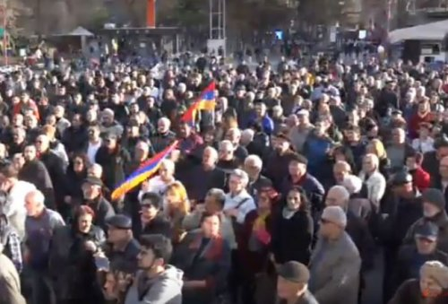 На площади Свободы стартовал митинг в поддержку группы «Сасна црер» - «Новости Армении»