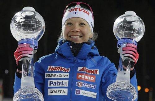 Кайса Макарайнен завоевала Большой хрустальный глобус, опередив на 3 очка Анастасию Кузьмину - «Биатлон»