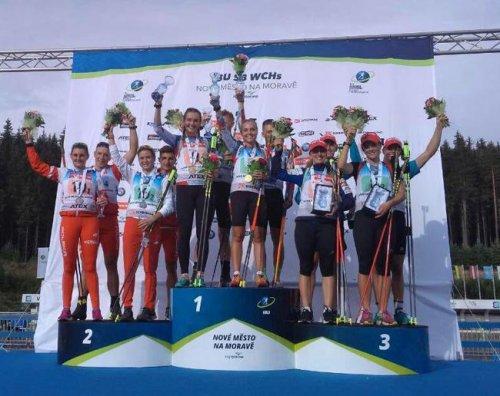 Украинские юниоры – четвертые в смешанной эстафете на летнем ЧМ по биатлону - «Биатлон»